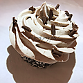 Cupcakes coeur gianduja, ganache montée chocolat sans oeufs