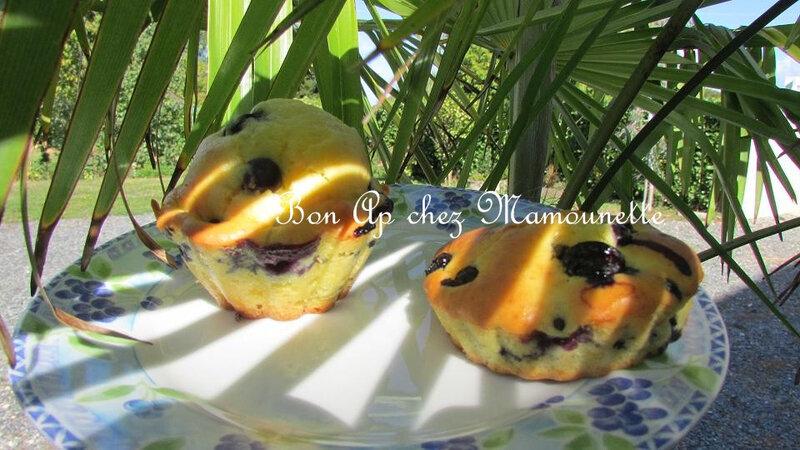 Petits gâteaux aux myrtilles 009