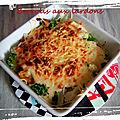 Idée repas : brocolis aux lardons avec une petite béchamel légère