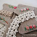 Ballade d'automne - autumn flower wreaths embroidery finished