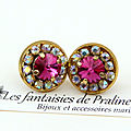 bijoux-mariage-intemporels-soiree-temoin-boucles-d-oreilles-clous-puces-colette-cristal-et-strass-rose-fuchsia-et-irisé