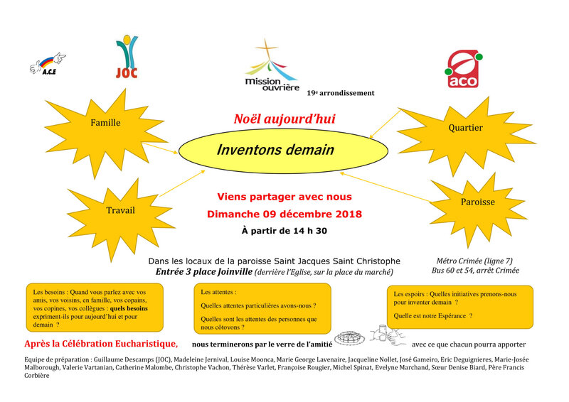 Invitation mission ouvrièrre du 09