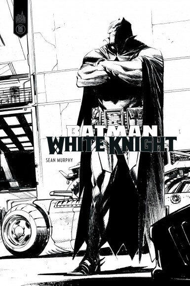 batman white knight black & white
