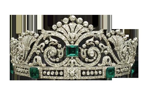 Diamond Emerald Tiara
