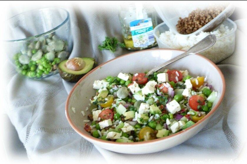 """ღ """" Miam """" Salade de légumineuses au fromage de Brebis"""