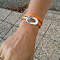 Le bracelet Boucle orange de Christelle