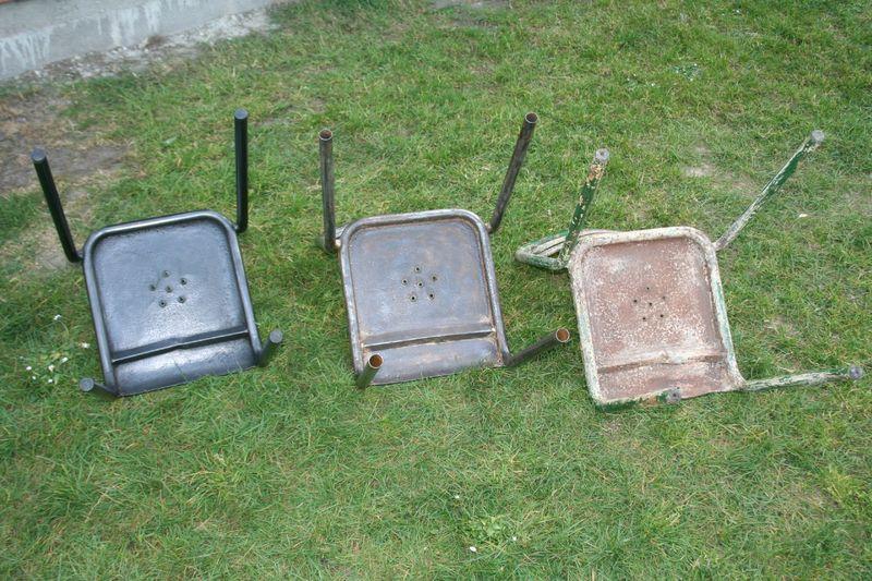Chaises terrasse de bistrot assise perforée (10)