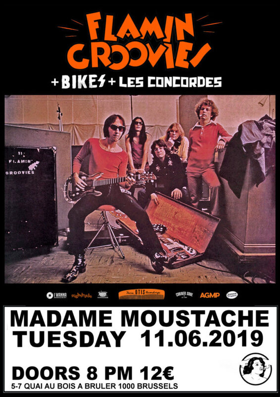 FLAMMING-GROOVIES at Madame Moustache