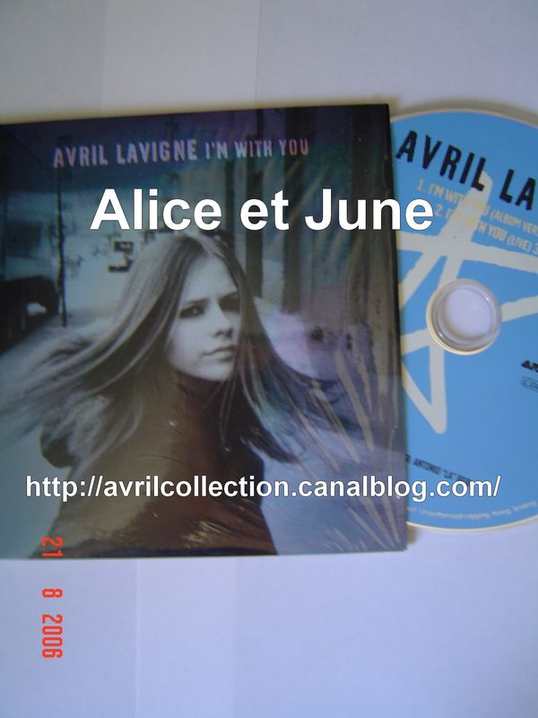 CD Single I' m With You-version européenne (2003)