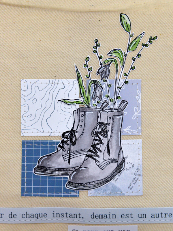 mini album-Toi- vue de face-pochon-detail - collection So Chou Sur la route-chouflowers-claire scrapat home