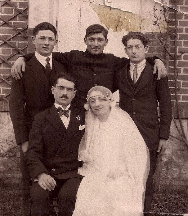 maraige René et Aimée Renard, 1929