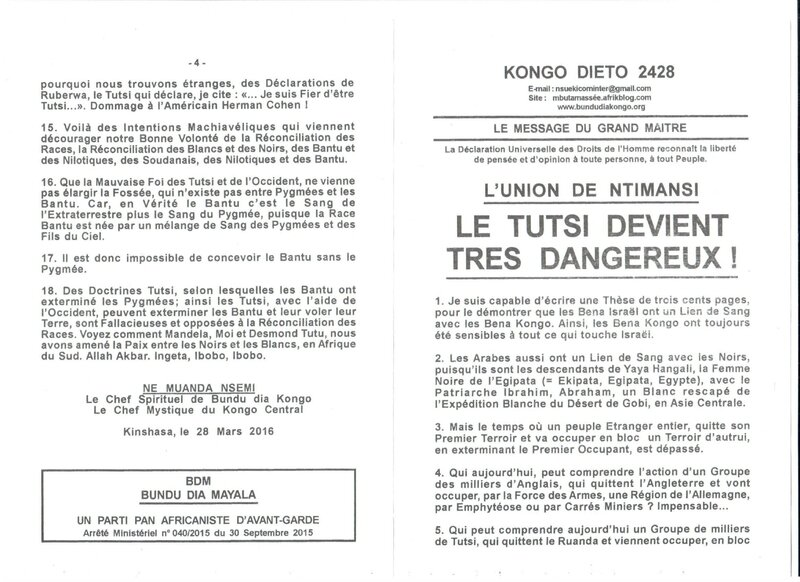 LE TUTSI DEVIENT TRES DANGEREUX a