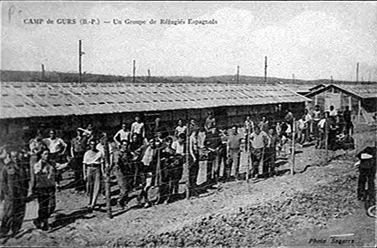 Camp-de-Gurs Un-groupe de réfugies espagnols