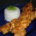 Brochette de poulet sauce satay