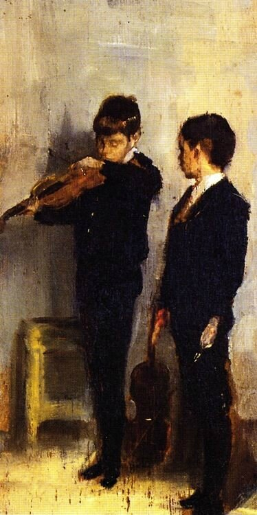 Tom Roberts The violin lesson