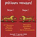 Rouen 11 janvier 2020: avec la langue régionale, construire une politique globale de promotion de la culture normande