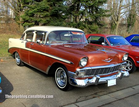 Chevrolet bel air 4door sedan de 1956 (Retrorencard mars 2013) 01