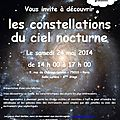 Constellations du ciel nocturne