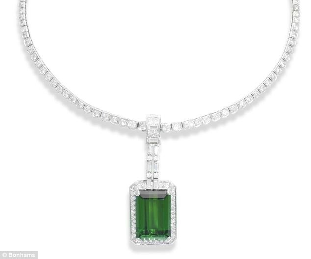 A tourmaline and diamond necklace, by Tambetti