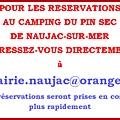 Reservations au camping