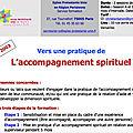 Vers une pratique de l'accompagnement spirituel
