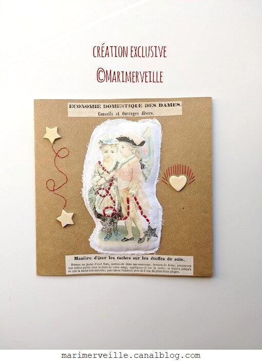 Carte couple chromos conseils ouvrages divers - création exclusive ©Marimerveille