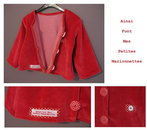 gilet rouge pois 2
