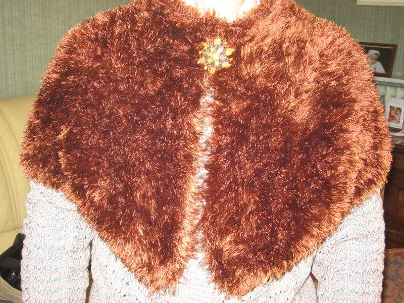 Capeline faite pour Maman en laine bergère de france