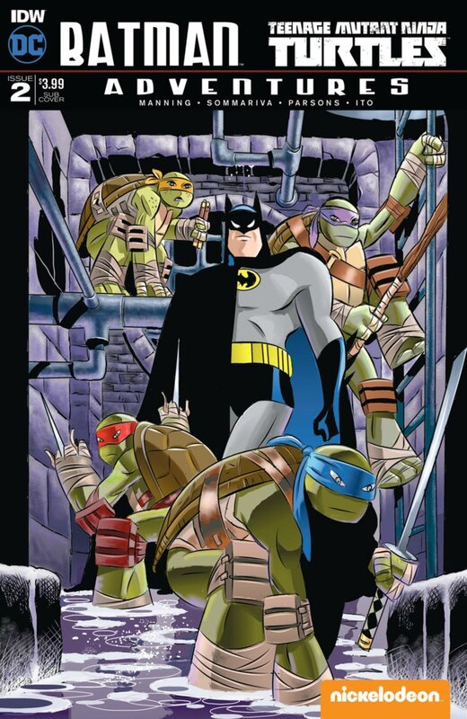 IDW batman TMNT adventures 02 burchett sub cover