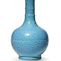 A small robin's egg-glazed bottle vase, qing dynasty, 18th century