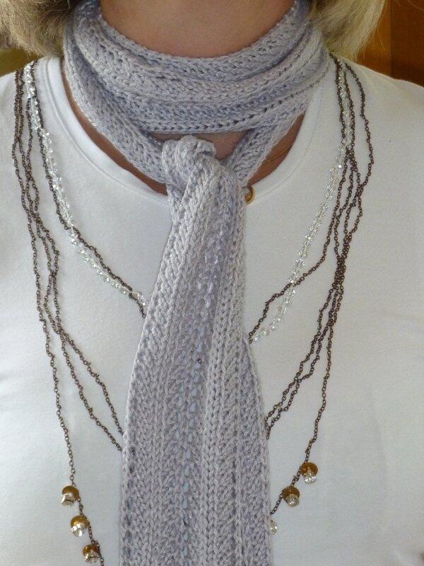 Echarpe grise ...coton bambou