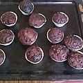Muffins au chocolat et pépites de chocolat