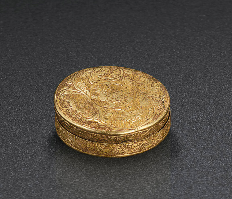 2019_NYR_18338_0569_000(a_circular_gold_tortoise_box_and_cover_tang_dynasty)