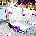 Planche d'inspiration mariage argent, violet, parme et gris #1