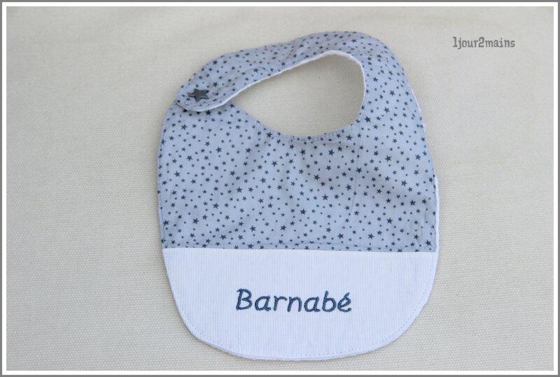 bavoir pression Barnabé