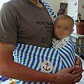 Porte bébé sling d'été !