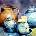 Les pots - d'après une photo de Y. Lemeur