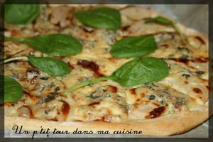 Pizza poires fourme
