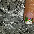 Passion'nail pose d'ongles en gel: bonhomme de neige