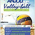 Tournée anjou loire volley ball - 26/06, 02 et 03/07, 14/07/2016
