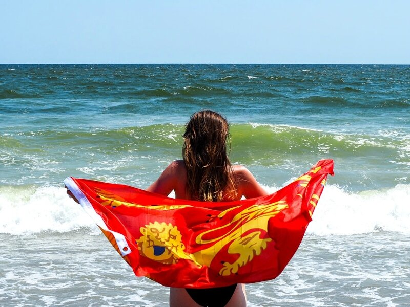 rockaway-beach-norman-flag