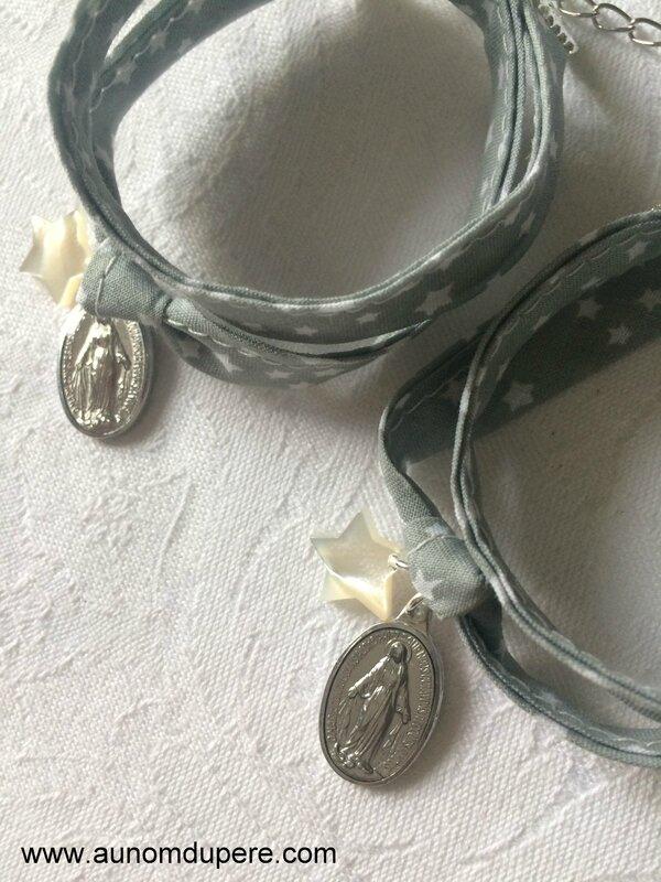 Bracelets Couronnée d'Etoiles (gris) - 19 € pièce