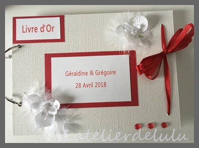 livre d or mariage orchidees