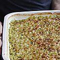 Gratin de courgettes & riz, recette de julia child