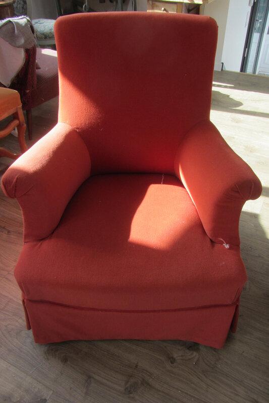 fauteuil anglais à retapisser