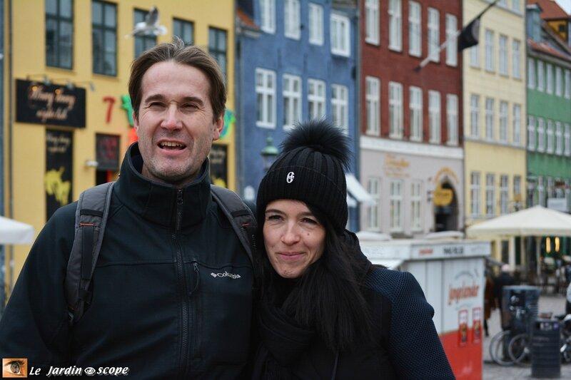 Hervé et Marie au Port Nyhavn à Copenhague