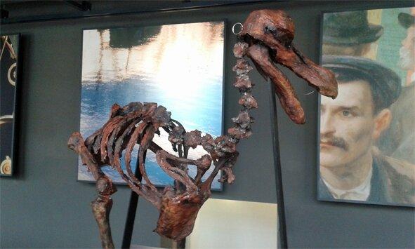 Marionnette dodo exposée à la Fabrique des savoirs - © Dimitri Chaaf