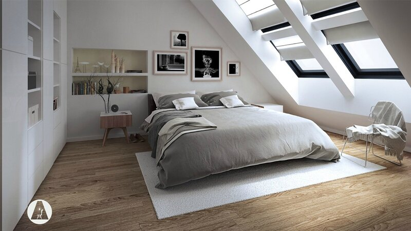 all-white-attic-bedroom-slanted-windows-with-white-covers