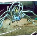 sculptures en fil d'aluminuim