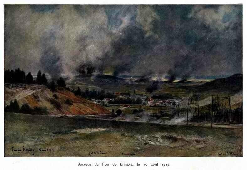 Flameng fort de brimont 1917